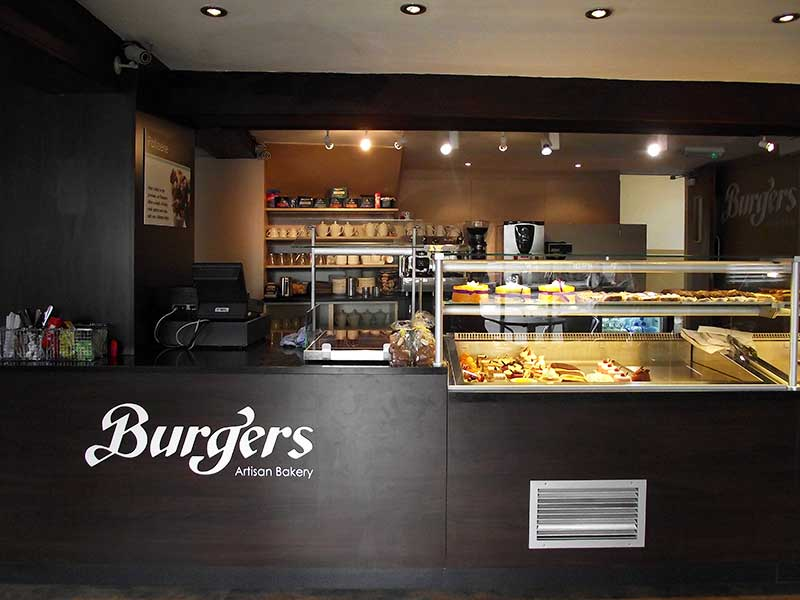 Burgers of Artisan Bakery take away counter